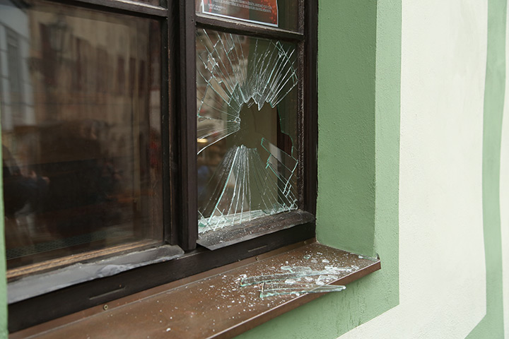 A2B Glass are able to board up broken windows while they are being repaired in Rainham.